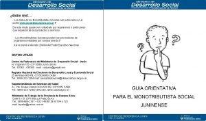 SABIA QUE Los datos de los Monotributistas Sociales