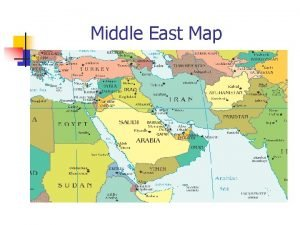 Middle East Map Imagining the Middle East n