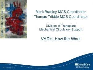 Mark Bradley MCS Coordinator Thomas Tribble MCS Coordinator