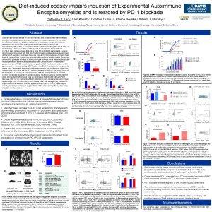 Dietinduced obesity impairs induction of Experimental Autoimmune Encephalomyelitis