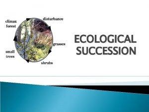 ECOLOGICAL SUCCESSION Ecological succession An orderly and progressive