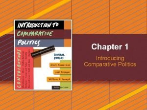 Chapter 1 Introducing Comparative Politics Introducing Comparative Politics