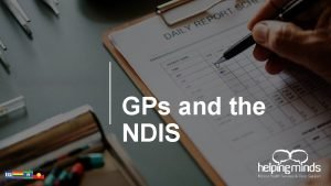 GPs and the NDIS Acknowledgement of Country zzzzzz