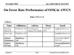 November 2016 doc IEEE 802 11 161379 r