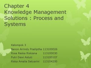 Chapter 4 Knowledge Management Solutions Process and Systems