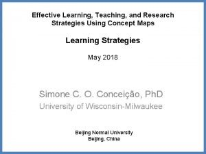 Effective Learning Teaching and Research Strategies Using Concept