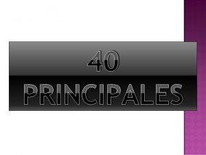 40 PRINCIPALES Leonardo da Vinci Leonardo da Vinci