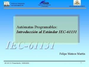 Entornos Integrados de Automatizacin Ingeniera de Sistemas y