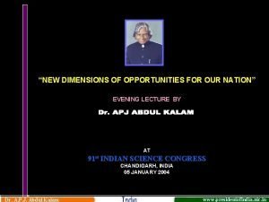 NEW DIMENSIONS OF OPPORTUNITIES FOR OUR NATION EVENING