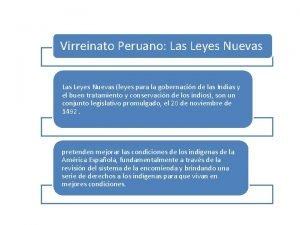 Virreinato Peruano Las Leyes Nuevas leyes para la
