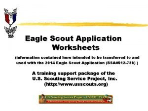 Eagle Scout Application Worksheets information contained here intended