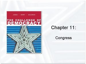 Chapter 11 Congress The Origin and Powers of