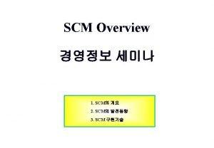 1 SCM SCM SCM Business System Performance Curve