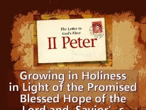 Growing in Holiness in Light of the Promised