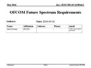 Mar 2016 doc IEEE 802 18 160016 r