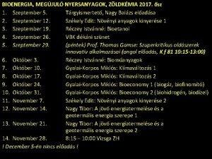 BIOENERGIA MEGJUL NYERSANYAGOK ZLDKMIA 2017 sz 1 Szeptember
