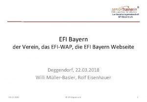 EFI Bayern der Verein das EFIWAP die EFI