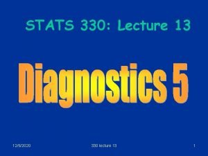 STATS 330 Lecture 13 1252020 330 lecture 13