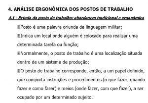 4 ANLISE ERGONMICA DOS POSTOS DE TRABALHO 4