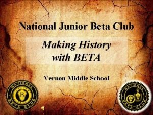National Junior Beta Club Making History with BETA