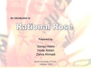 An Introduction to Prepared by Sanaz Helmi Hoda