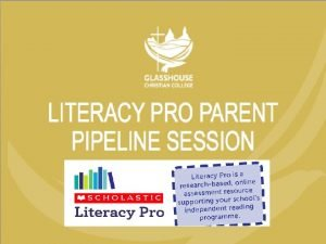 LITERACY PRO READING PROGRAM The Literacy Pro program