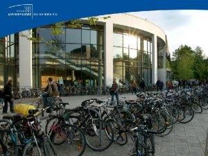 Universitt Oldenburg Zahlen Daten Fakten Campus Haarentor Campus