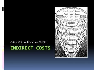 Office of School Finance WVDE INDIRECT COSTS Indirect
