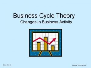 Business Cycle Theory Changes in Business Activity 2012