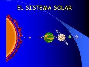 EL SISTEMA SOLAR PLANETAS DEL SISTEMA SOLAR MERCURIO