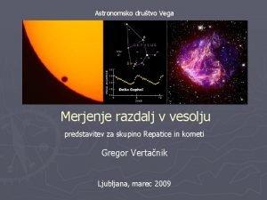 Astronomsko drutvo Vega Vir http www nasa govtopicsu