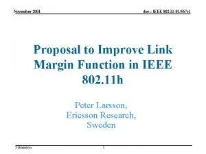 November 2001 doc IEEE 802 11 01567 r