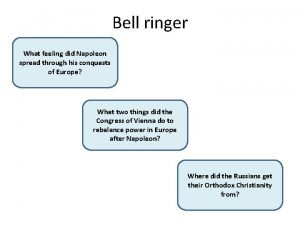 Bell ringer Nationalism or pride and What feeling