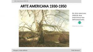 Arte Americana 1930 50 ARTE AMERICANA 1930 1950