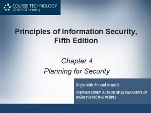 Principles of Information Security Fifth Edition Chapter 4