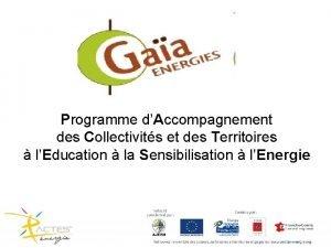Programme dAccompagnement des Collectivits et des Territoires lEducation