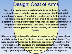 Design Coat of Arms Coats of Arms date