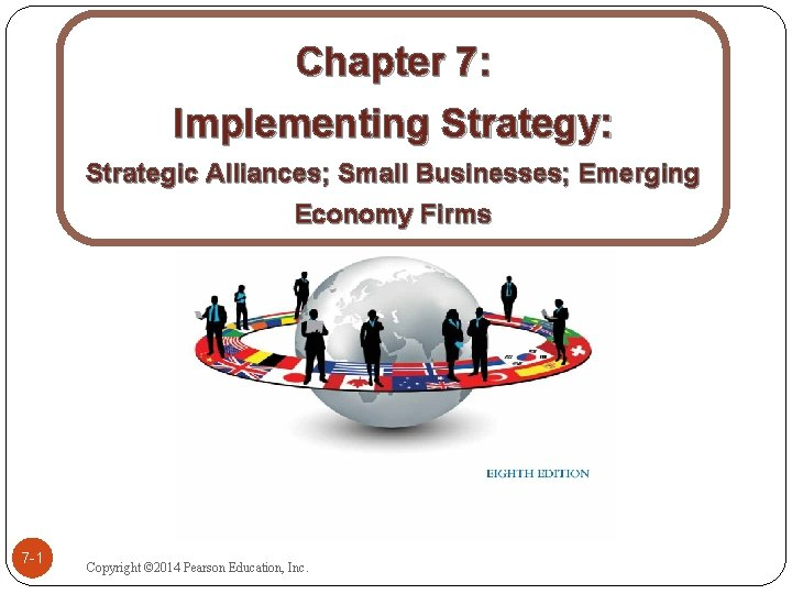 Chapter 7 Implementing Strategy Strategic Alliances Small Businesses