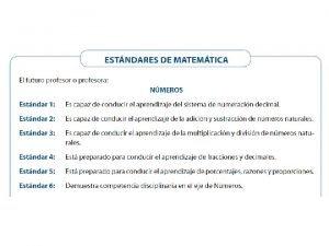 Lenguaje matemtico El lenguaje de las matemticas es