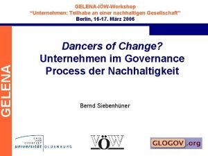 GELENAIWWorkshop Unternehmen Teilhabe an einer nachhaltigen Gesellschaft Berlin