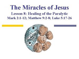 The Miracles of Jesus Lesson 8 Healing of