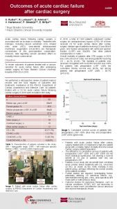 Outcomes of acute cardiac failure after cardiac surgery