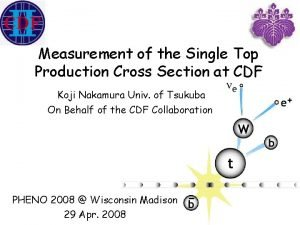 Measurement of the Single Top Production Cross Section