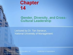 Chapter 14 Gender Diversity and Cross Cultural Leadership