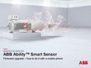 ABB Ability Smart Sensor ABB MOTORS AND GENERATORS