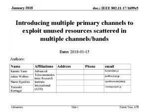 January 2018 doc IEEE 802 11 171699 r
