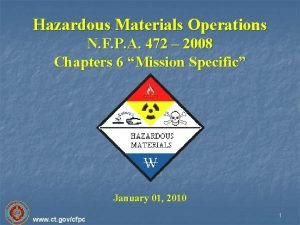 Hazardous Materials Operations N F P A 472