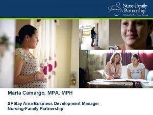 Maria Camargo MPA MPH SF Bay Area Business
