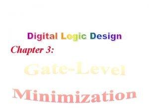 Chapter 3 Karnaugh Map Adjacent Squares Number of