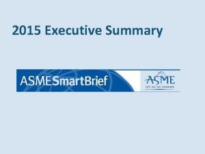 2015 Executive Summary Subscriber Profile Reach Business Owners